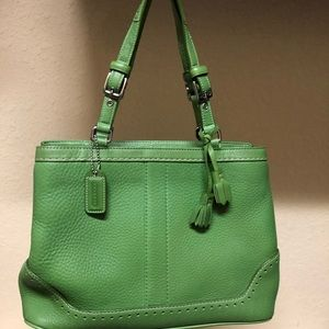 Coach authentic pebbled leather handbag
